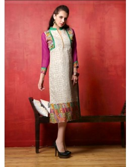 Festival Wear Readymade Cotton Kurti - Darpan2073